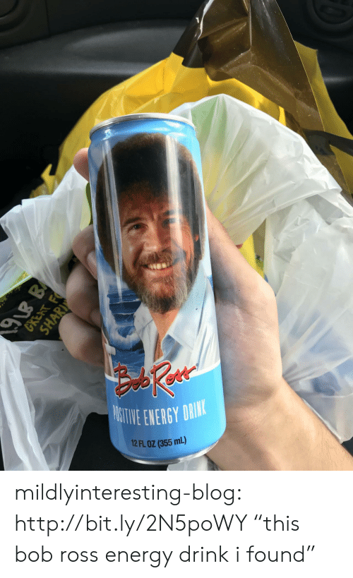 "Energy, Tumblr, and Blog: ITIVE ENERGY DRI  12 FL OZ (355 mL)  91B B  GRENT F  SHARI mildlyinteresting-blog:  http://bit.ly/2N5poWY ""this bob ross energy drink i found"""