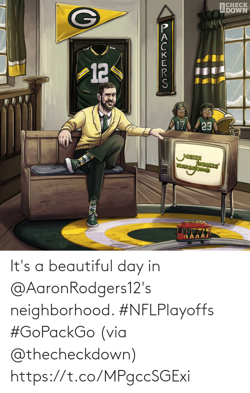 Neighborhood: It's a beautiful day in @AaronRodgers12's neighborhood. #NFLPlayoffs #GoPackGo  (via @thecheckdown) https://t.co/MPgccSGExi