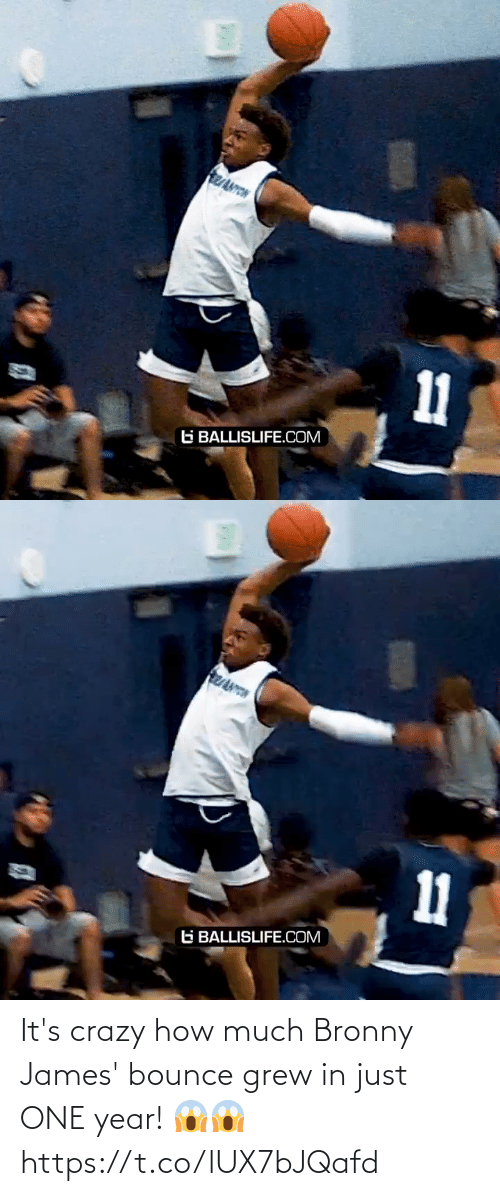 james: It's crazy how much Bronny James' bounce grew in just ONE year! 😱😱 https://t.co/lUX7bJQafd