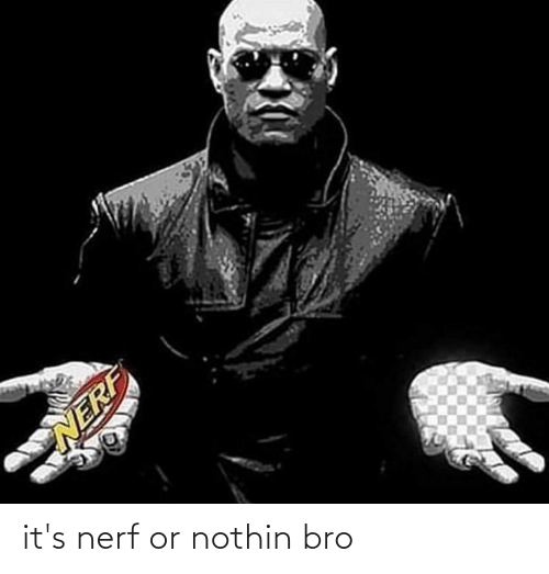 Nerf Or Nothin: it's nerf or nothin bro