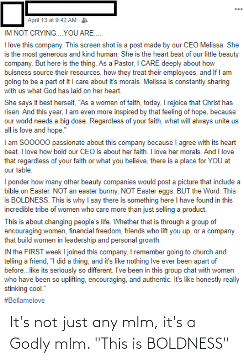 """Godly: It's not just any mlm, it's a Godly mlm. """"This is BOLDNESS"""""""