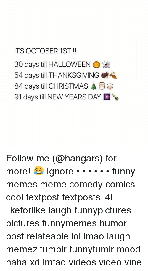 christmas funny and halloween its october 1st 30 days till halloween