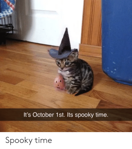 October 1St: It's October 1st. Its spooky time. Spooky time