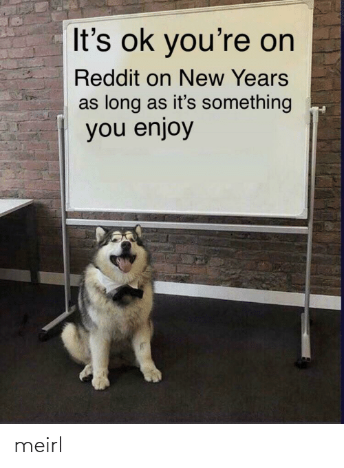 Enjoy: It's ok you're on  Reddit on New Years  as long as it's something  you enjoy meirl