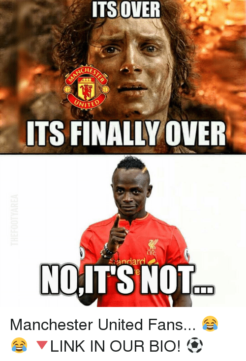 Finals Over: ITS OVER  CHEO  UNITED  ITS FINALLY OVER  ndardt  NO,ITS NOT  OLD Manchester United Fans... 😂😂 🔻LINK IN OUR BIO! ⚽️