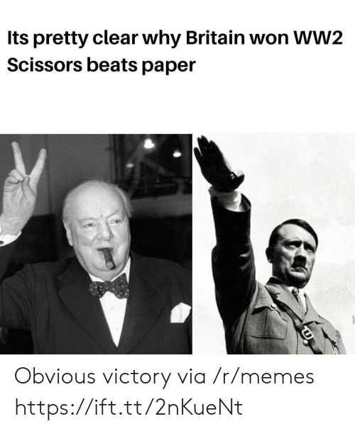 Beats: Its pretty clear why Britain won WW2  Scissors beats paper Obvious victory via /r/memes https://ift.tt/2nKueNt