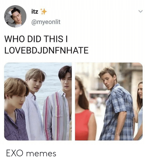 Memes, Exo, and Who: itz  @myeonlit  WHO DID THISI  LOVEBDJDNFNHATE EXO memes