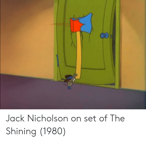Jack Nicholson: Jack Nicholson on set of The Shining (1980)