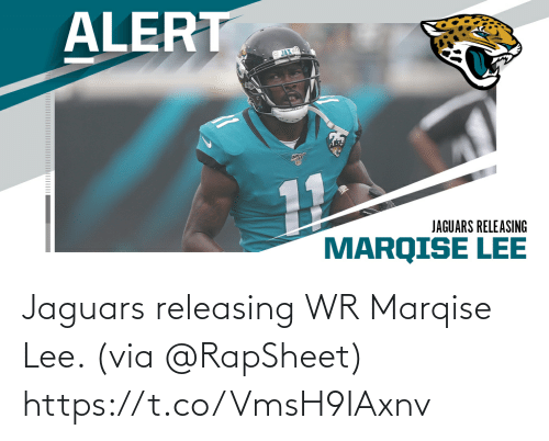 jaguars: Jaguars releasing WR Marqise Lee. (via @RapSheet) https://t.co/VmsH9IAxnv