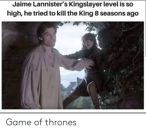 Game of Thrones, Game, and King: Jaime Lannister's Kingslayer level is so  high, he tried to kill the King 8 seasons ago Game of thrones