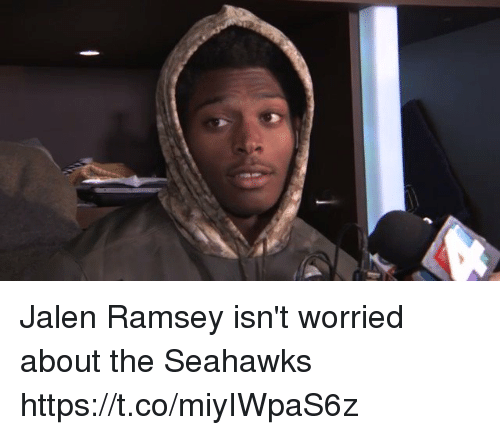 Nfl, Seahawks, and Ramsey: Jalen Ramsey isn't worried about the Seahawks  https://t.co/miyIWpaS6z