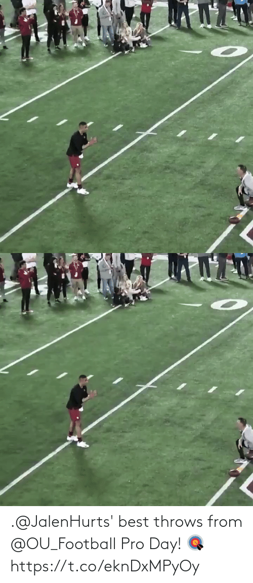 Throws: .@JalenHurts' best throws from @OU_Football Pro Day! 🎯 https://t.co/eknDxMPyOy