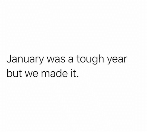 Dank, Tough, and We Made It: January was a tough year  but we made it.