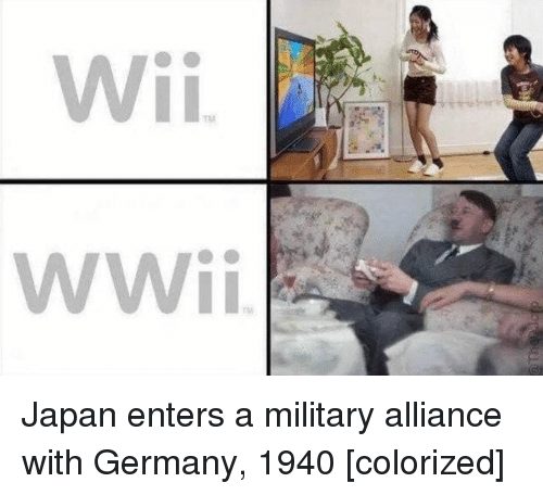 Germany, Japan, and Military: Japan enters a military alliance with Germany, 1940 [colorized]