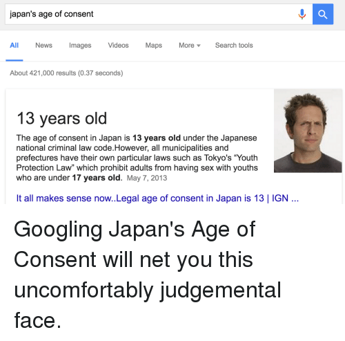 Consent age japan meme in of The legal