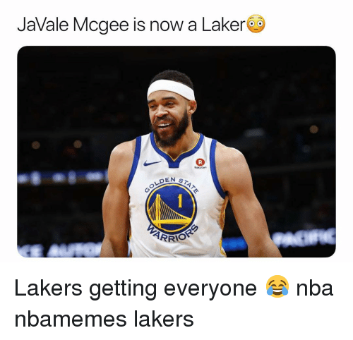 Basketball, Los Angeles Lakers, and Nba: JaVale Mcgee is now a Laker  Rokuter  DEN ST Lakers getting everyone 😂 nba nbamemes lakers