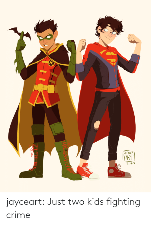Kids: jayceart:  Just two kids fighting crime