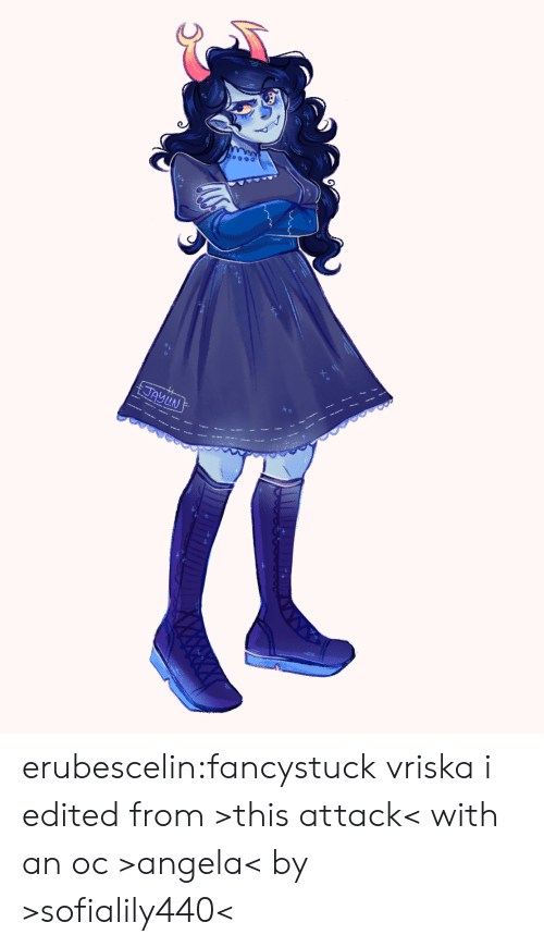 Target, Tumblr, and Blog: JAYLN erubescelin:fancystuck vriska i edited from >this attack< with an oc >angela< by >sofialily440<