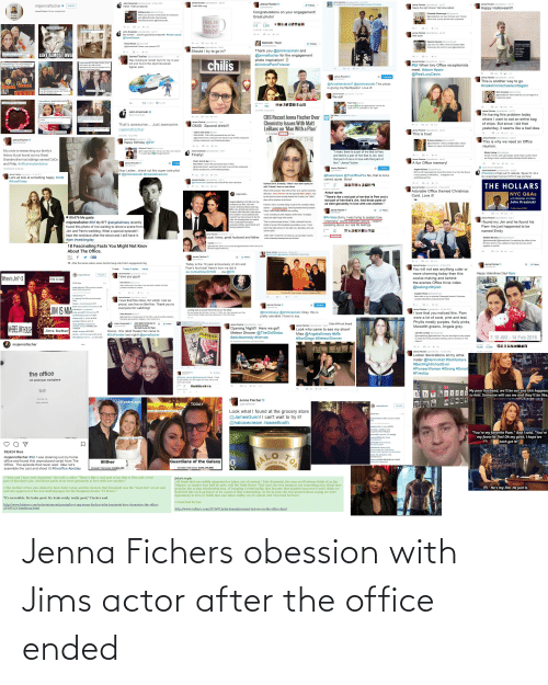 The Office: Jenna Fichers obession with Jims actor after the office ended