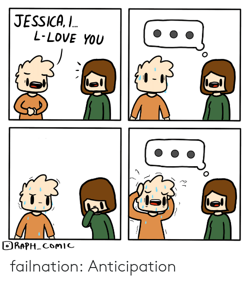 Jessica: JESSICA,  L-LOVE YOU  L.  RAPH_ComIc failnation:  Anticipation