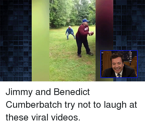 Target, Videos, and youtube.com: Jimmy and Benedict Cumberbatch try not to laugh at these viral videos.