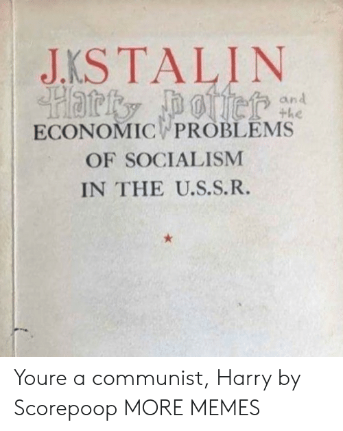 A Communist: JKSTALIN  an  ECONOMIC PROBLEMS  OF SOCIALISM  IN THE U.S.S.R. Youre a communist, Harry by Scorepoop MORE MEMES