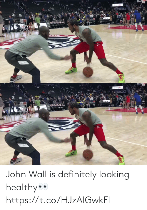 john: John Wall is definitely looking healthy👀 https://t.co/HJzAIGwkFl
