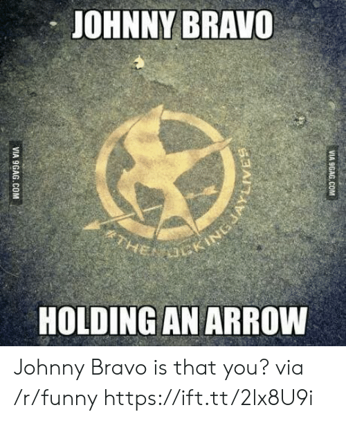 Johnny Bravo: JOHNNY BRAVO  HOLDING AN ARROW Johnny Bravo is that you? via /r/funny https://ift.tt/2lx8U9i
