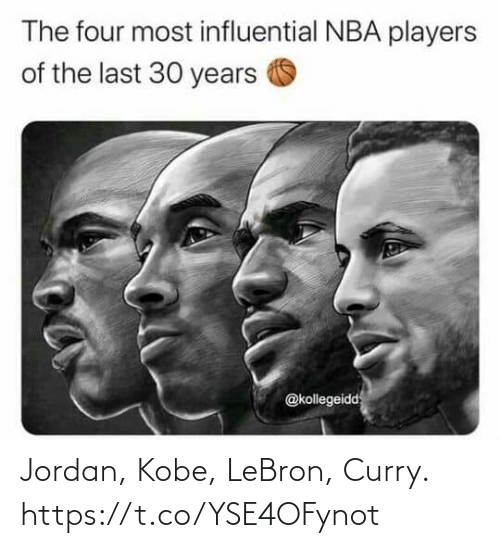 Kobe Lebron: Jordan, Kobe, LeBron, Curry. https://t.co/YSE4OFynot