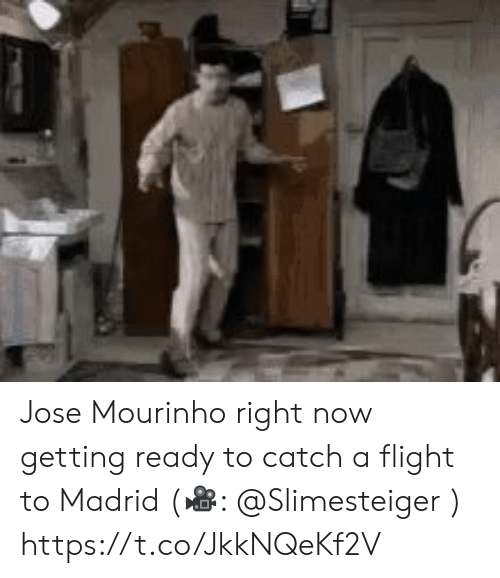 Jose: Jose Mourinho right now getting ready to catch a flight to Madrid (?: @Slimesteiger )  https://t.co/JkkNQeKf2V