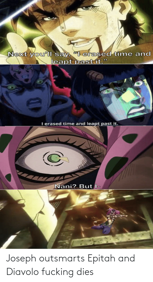Dies: Joseph outsmarts Epitah and Diavolo fucking dies