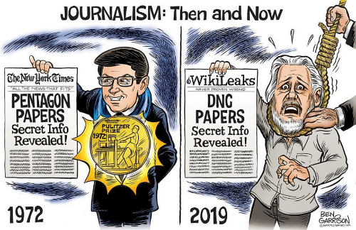 News, Never, and All The: JOURNALISM: Then and Now  | TheNewHorkCimes  WikiLeaks  DNG  PAPERS  Secret Info  Revealed!  ALL THE NEWS THAT FITS  NEVER PROVEN WRONG  PENTAGON  PAPERS  Secret Info  Revealed!  PULITZER  PRIZE  1972  aw ww  1972  2019  BEN,  GARRISON  GRRRGRAPHICS