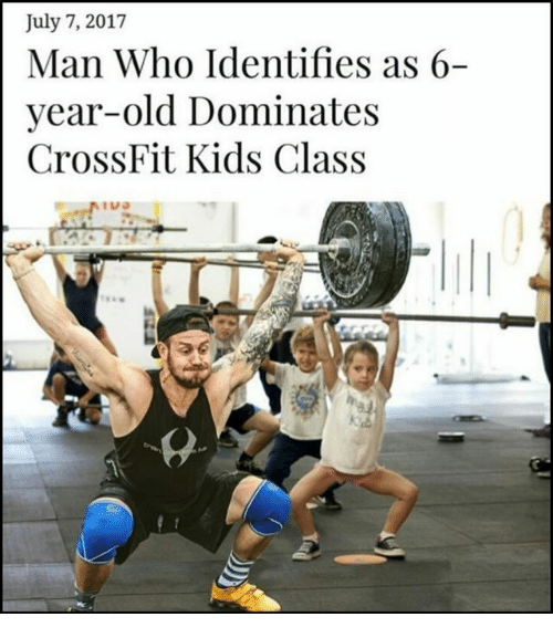 Crossfit, Kids, and Old: July 7, 2017  Man Who Identifies as 6-  year-old Dominate:s  CrossFit Kids Class  านจ
