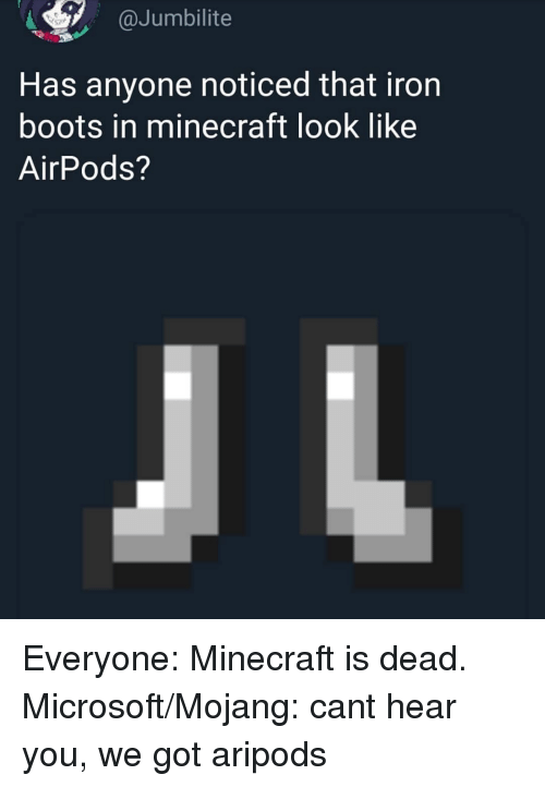 Has Anyone Noticed That Iron Boots in Minecraft Look Like
