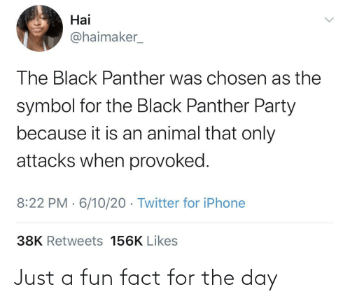 The Day: Just a fun fact for the day