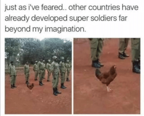 Soldiers, Super, and Beyond: just as i've feared.. other countries have  already developed super soldiers far  beyond my imagination.