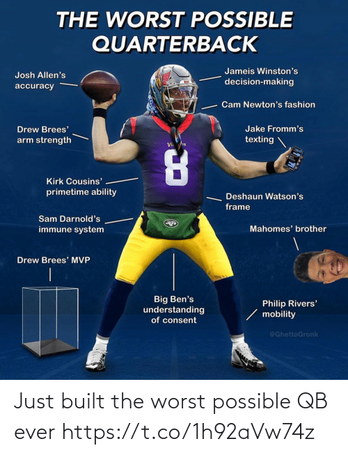 Football: Just built the worst possible QB ever https://t.co/1h92aVw74z