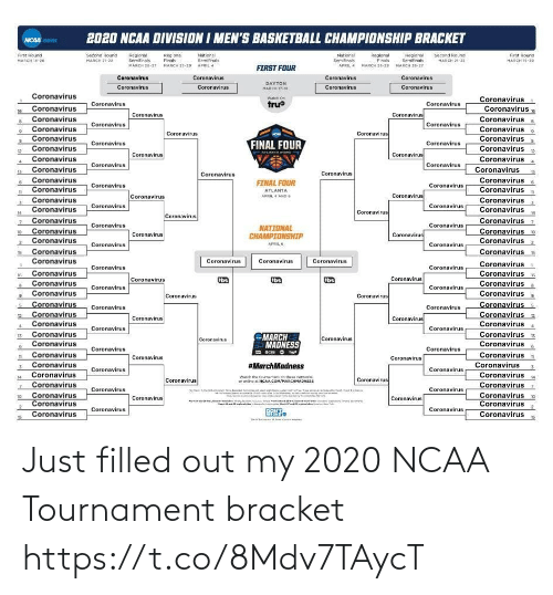ballmemes.com: Just filled out my 2020 NCAA Tournament bracket https://t.co/8Mdv7TAycT