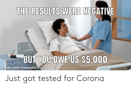 Tested: Just got tested for Corona