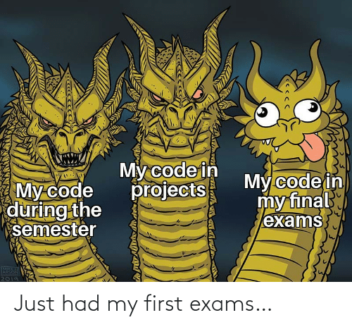 exams: Just had my first exams…