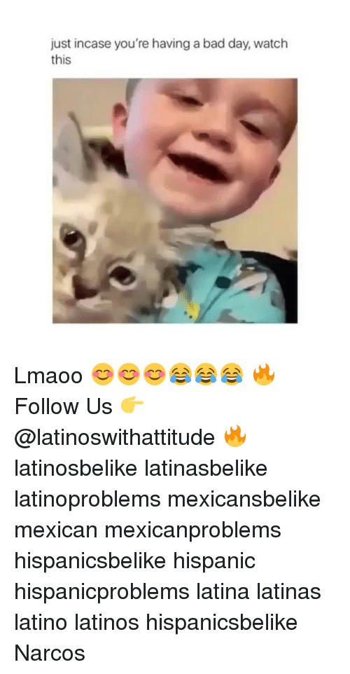 Narcos: just incase you're having a bad day, watch  this Lmaoo 😊😊😊😂😂😂 🔥 Follow Us 👉 @latinoswithattitude 🔥 latinosbelike latinasbelike latinoproblems mexicansbelike mexican mexicanproblems hispanicsbelike hispanic hispanicproblems latina latinas latino latinos hispanicsbelike Narcos