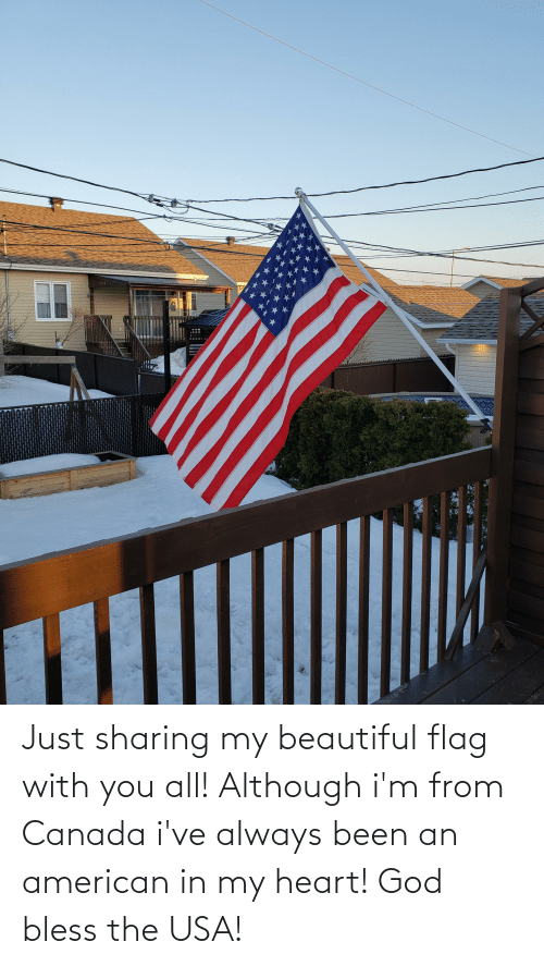 bless: Just sharing my beautiful flag with you all! Although i'm from Canada i've always been an american in my heart! God bless the USA!