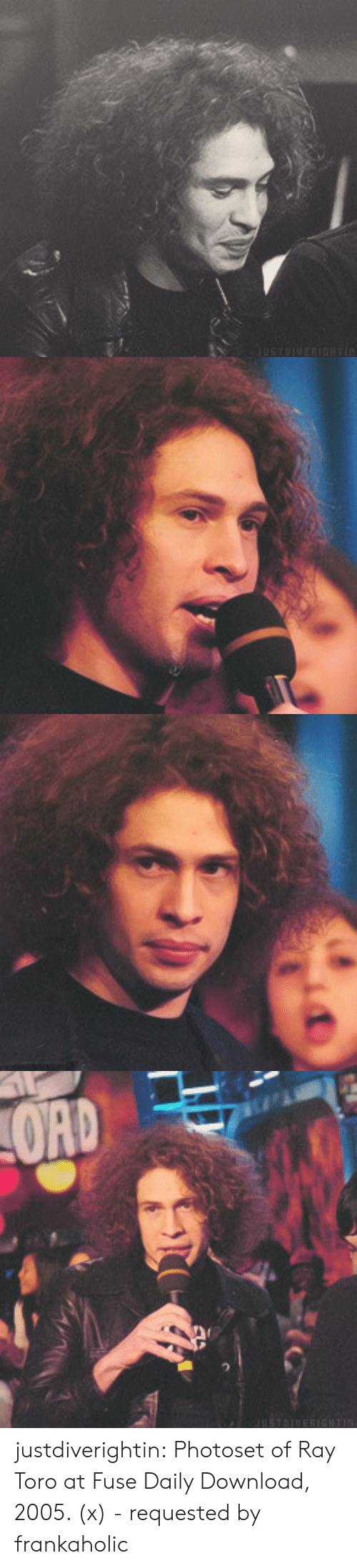 toro: justdiverightin: Photoset of Ray Toro at Fuse Daily Download, 2005. (x) -requested by frankaholic