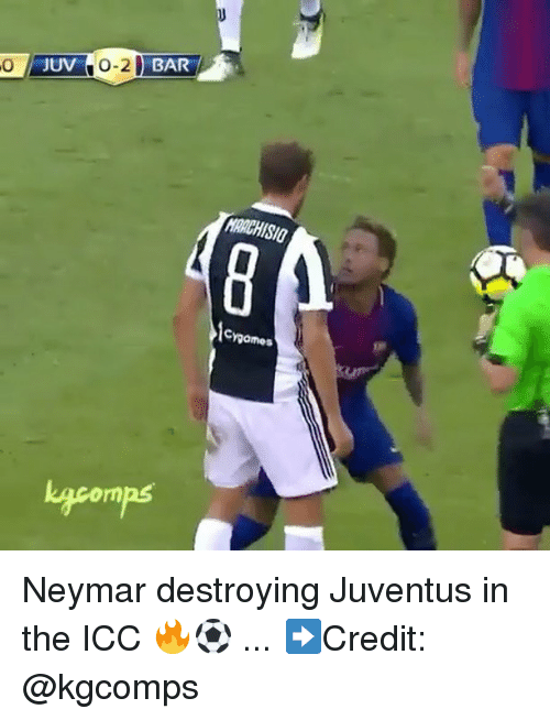 icc: JUV  0-2 BAR  0  RACHISIO  games  Lgcomps Neymar destroying Juventus in the ICC 🔥⚽️ ... ➡️Credit: @kgcomps