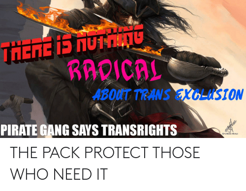 KAVICAL ABOUT TRANS EXCLUSION PIRATE GANG SAYS TRANSRIGHTS