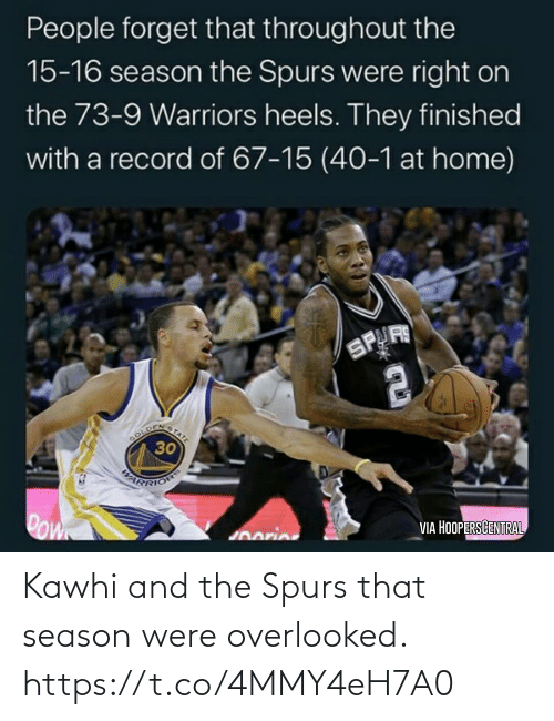 kawhi: Kawhi and the Spurs that season were overlooked. https://t.co/4MMY4eH7A0