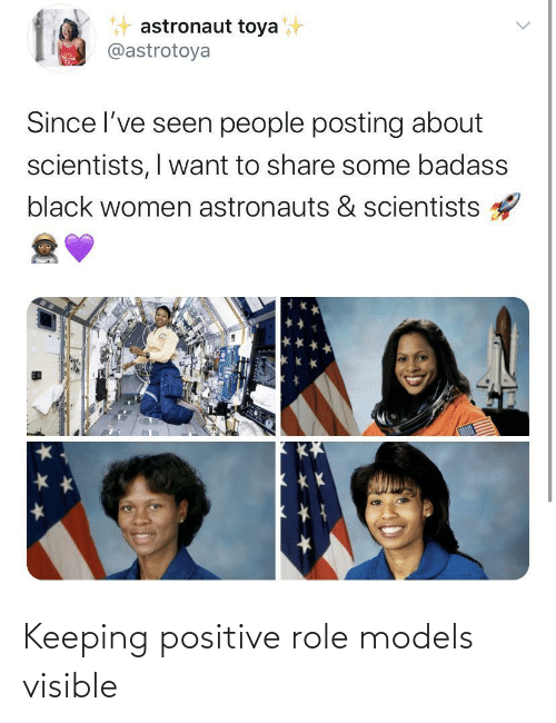Keeping: Keeping positive role models visible
