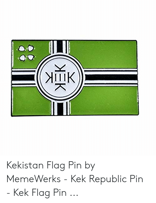 341F Kekistan Flag Embroidered Hook/&Loop Patch 8x5cm 4chan Kek Meme Pepe Sad