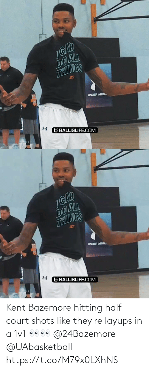 hitting: Kent Bazemore hitting half court shots like they're layups in a 1v1 👀👀 @24Bazemore @UAbasketball https://t.co/M79x0LXhNS