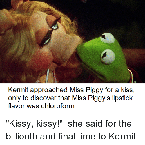 Kermit Approached Miss Piggy for a Kiss Only to Discover